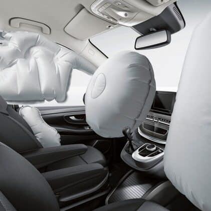 AirBag gonflé dans une voiture