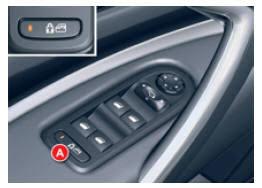 Bouton de verrouillage des vitre sur la porte conducteur d'une voiture